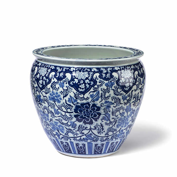 Blue & White Chinese Fishbowl (Planter)