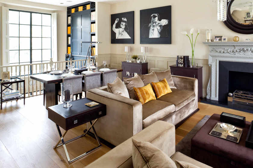 Cochrane Design Creates An Edgy But Elegant London Townhouse