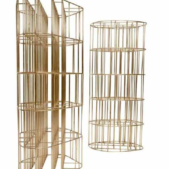 Golden Cage Bookcase