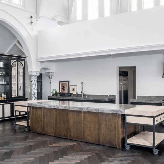 Rupert-Bevan-designed-this-contemporary-kitchen-to-blend-in-with-the-traditional-interior-of-the-former-church