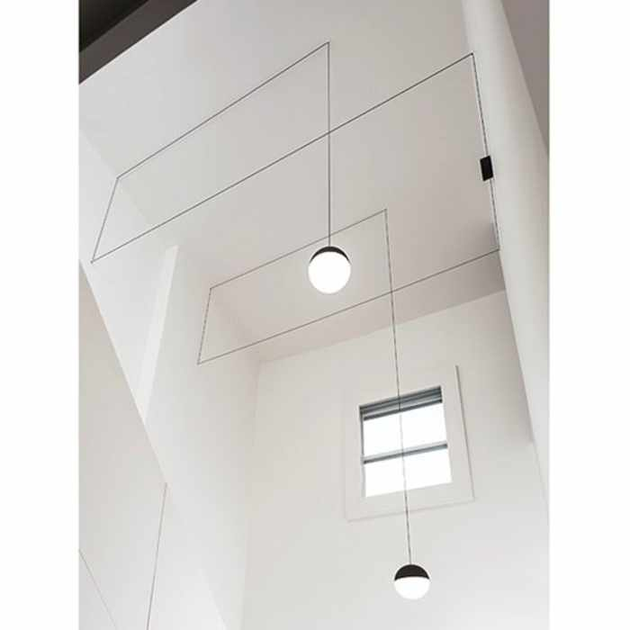 String Light Sphere Ceiling Light