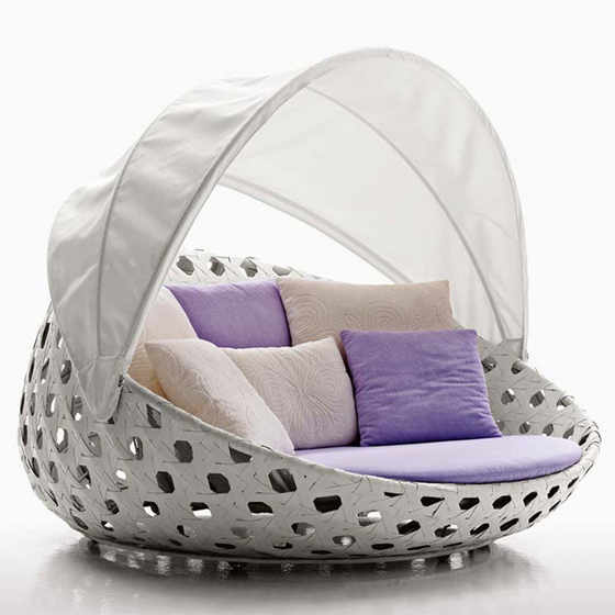 Canasta Outdoor Circular Armchair with Canopy