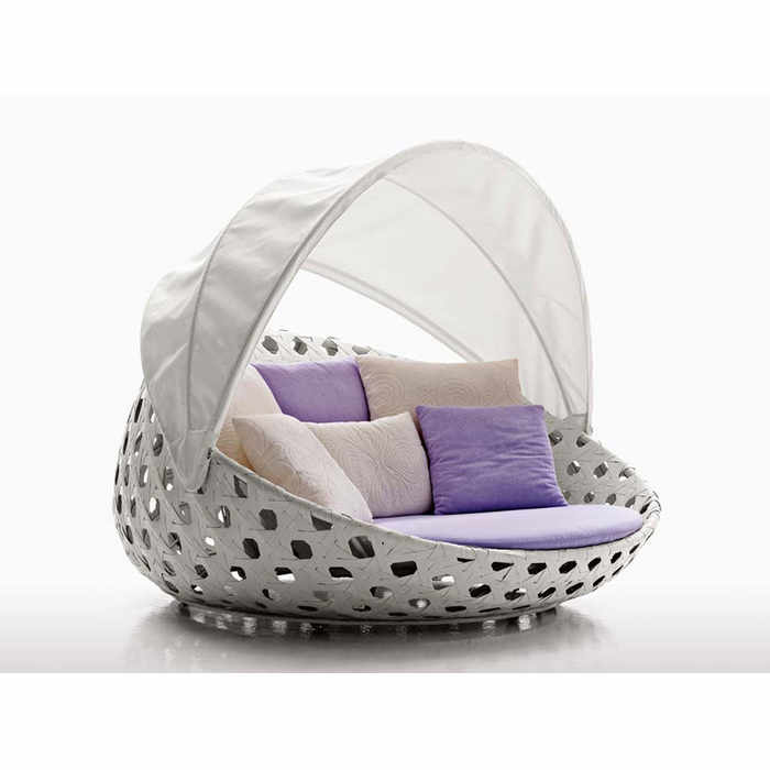 B&B Italia Canasta Outdoor Circular Armchair with Canopy by Patricia Urquiola