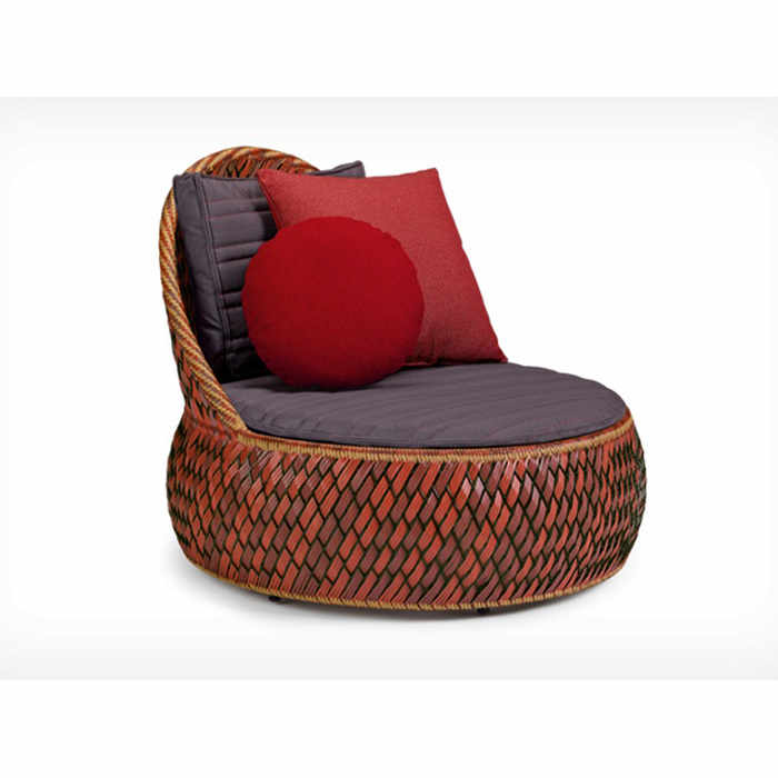 Dedon Dala Outdoor Lounge Chair by Stephen Burks
