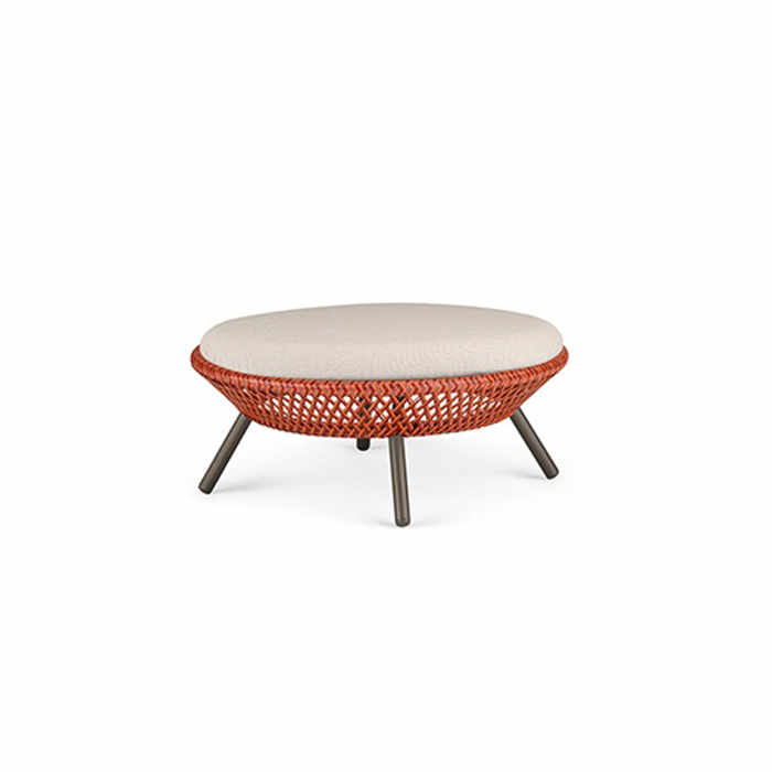 Dedon Ahnda Outdoor Footstool by Stephen Burks