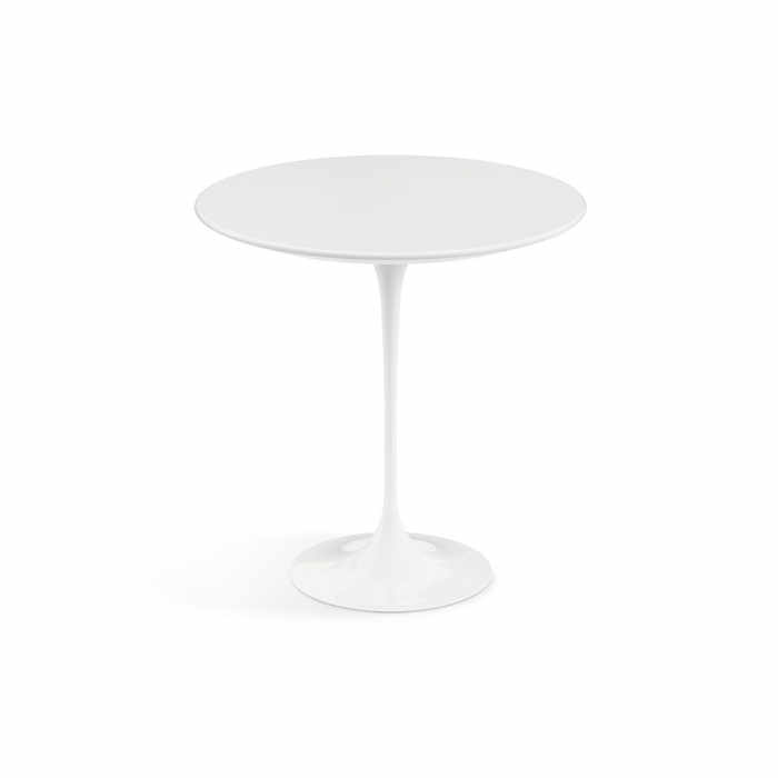 Knoll Saarinen Tulip Round Side Table - Quickship by Eero Saarinen