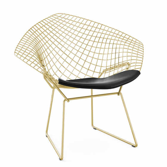 Bertoia Diamond Gold Armchair