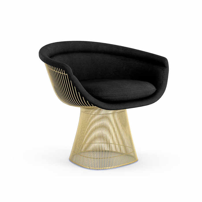 Knoll Platner Gold Lounge Chair by Warren Platner