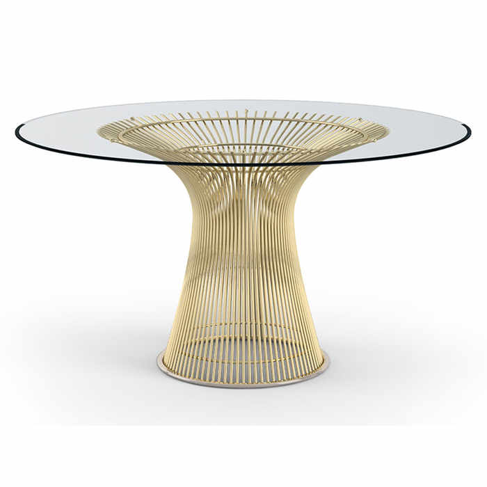 Knoll Platner Gold Dining Table by Warren Platner