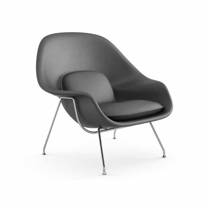 Knoll Womb Chair - Leather by Eero Saarinen