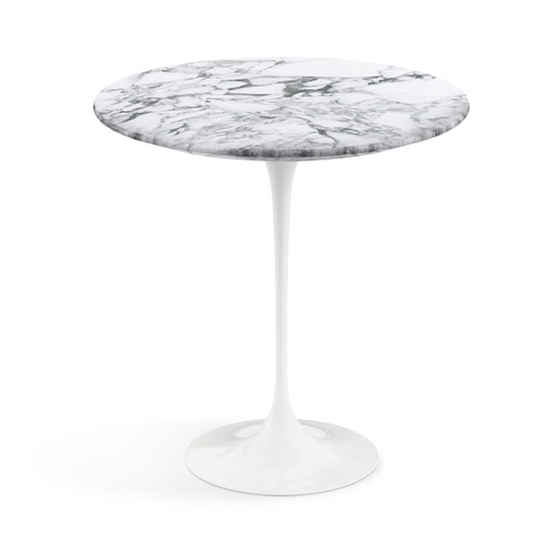 Saarinen Tulip Round Side Table - White Base