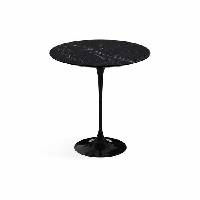 Knoll Saarinen Tulip Round Side Table - Black Base by Eero Saarinen