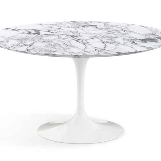 Saarinen Tulip Round Dining Table - Arabescato Marble