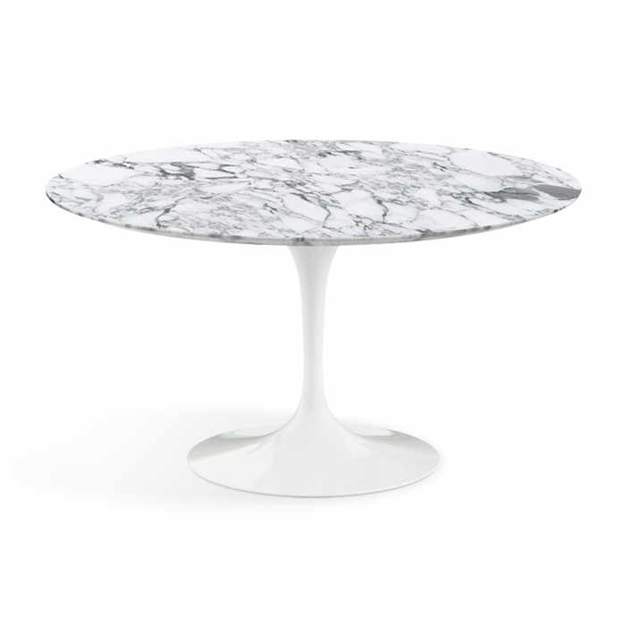 Knoll Saarinen Round Dining Table - Arabescato Marble by Eero Saarinen