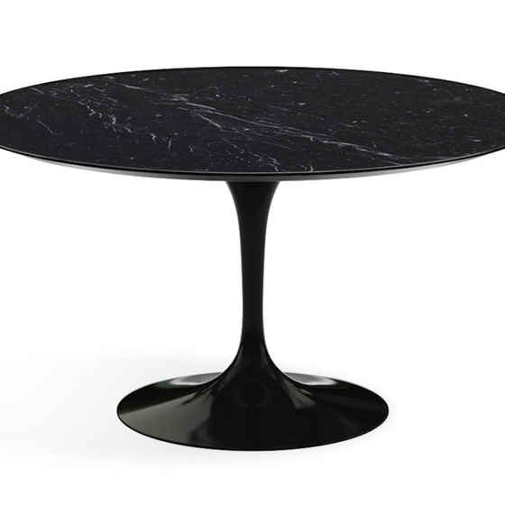 Saarinen Tulip Round Dining Table - Nero Marquina Marble