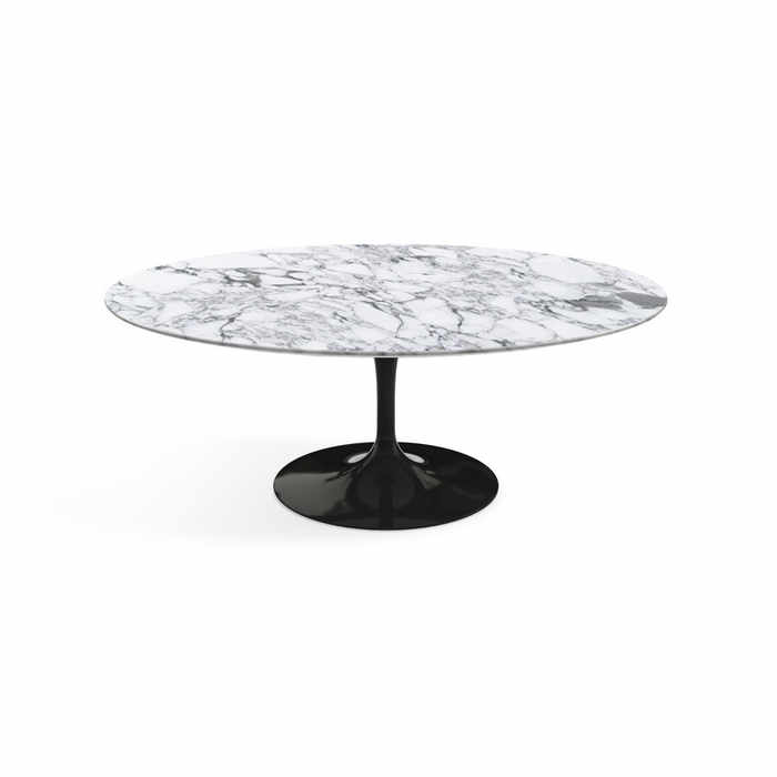Knoll Saarinen Tulip Coffee Table - Black Base by Eero Saarinen