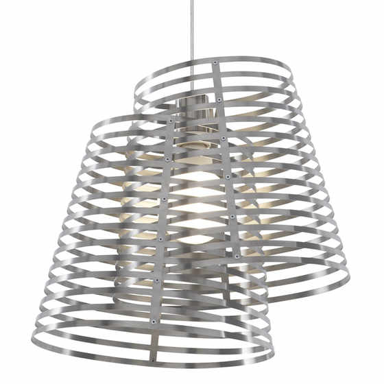 Stripes 2 Shade Pendant Light