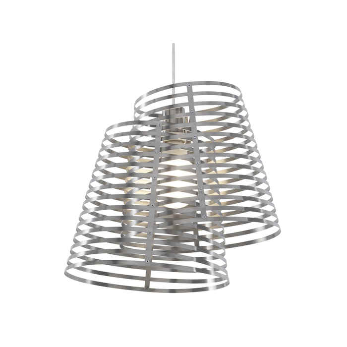 Ligne Roset Stripes 2 shade Pendant Light by Philippe Nigro