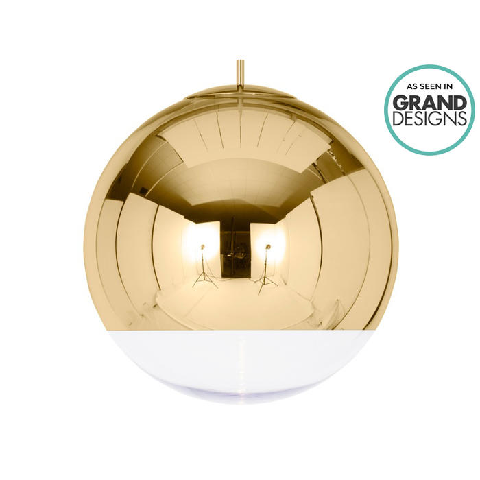Tom Dixon Mirror Ball Gold Pendant Light