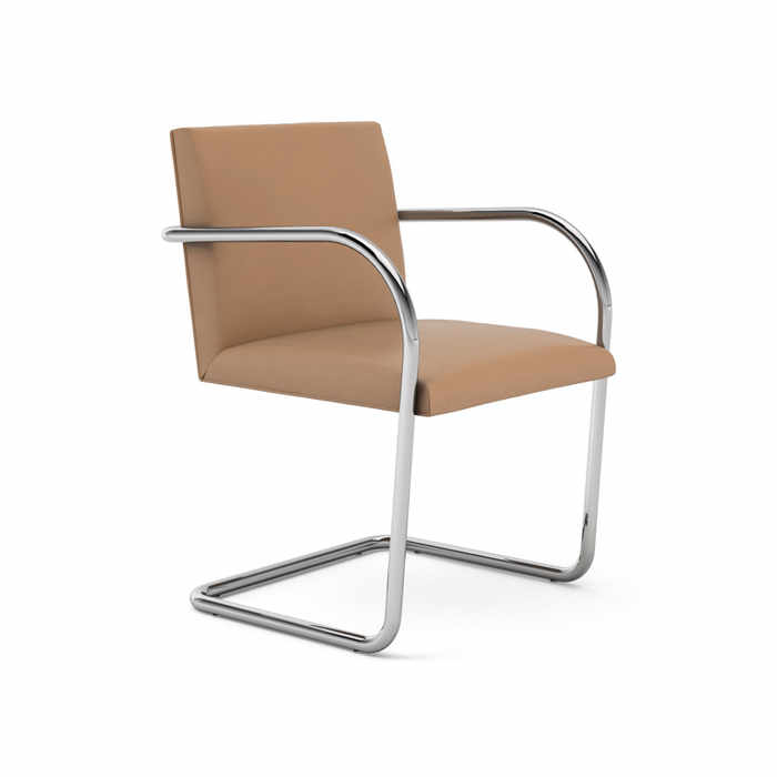 KNOLL-Brno-Tubular-Side-Chair-TAN