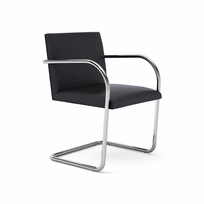 KNOLL-Brno-Tubular-Side-Chair-BLACK