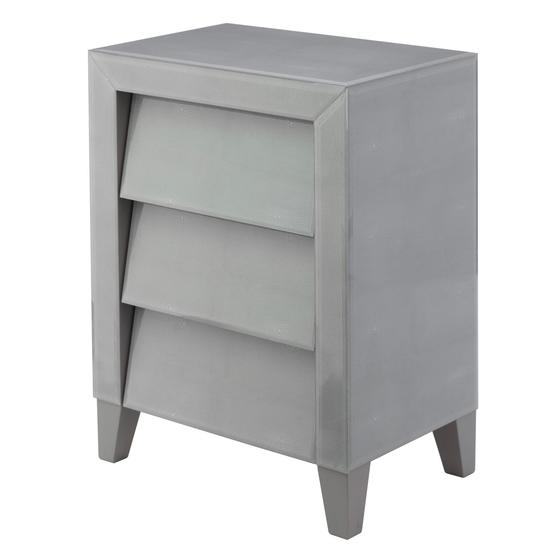 Shagreen 3 Drawer Bedside