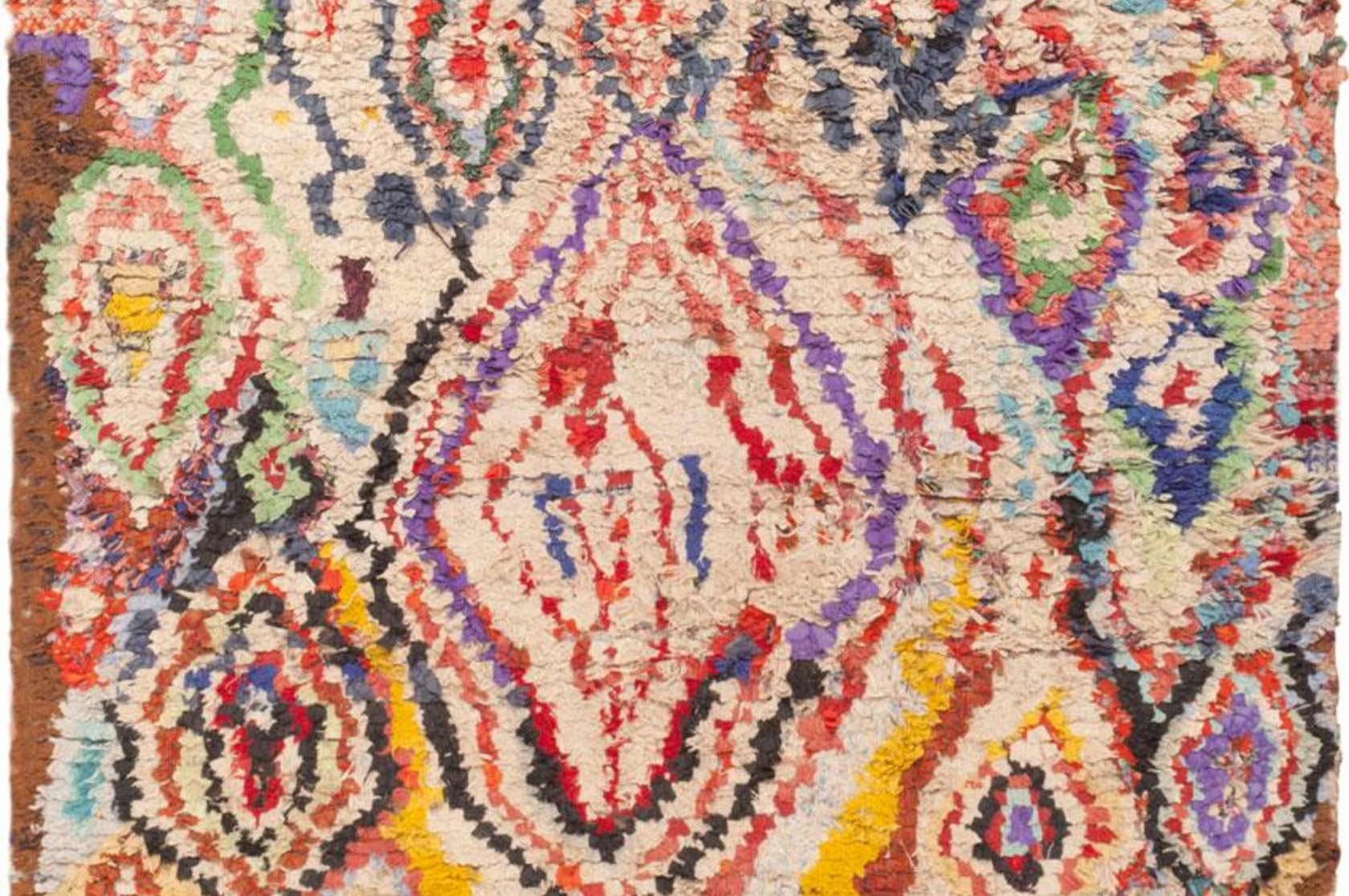 Vintage Moroccan Rug Interior Design Elements